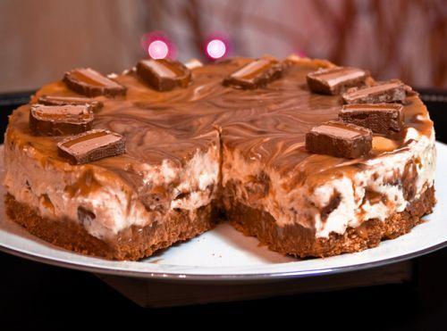 Recette de gâteau au fromage à la barre Mars très facile!