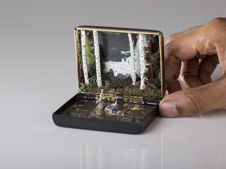 Artist Transforms Vintage Ring Boxes Into Tiny Detailed Dioramas