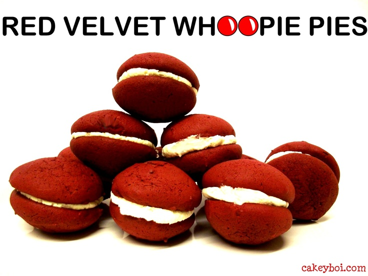 Red Velvet Whoopie Pies http://www.cakeyboi.com/2013/03/red-velvet-whoopie-pies-for-red-nose-day.html