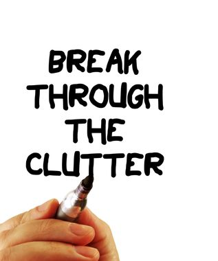 Click below if feeling overwhelmed by office clutter:  http://www.bizorganizing.com/2012/08/conquering-office-clutter/#