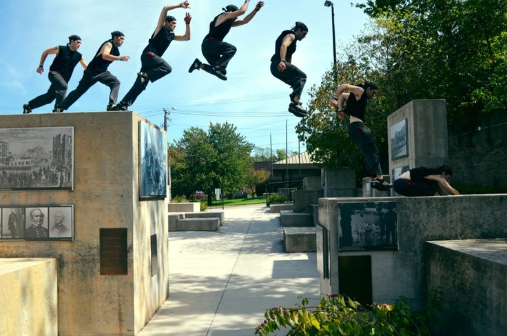 Precision jump over a gap