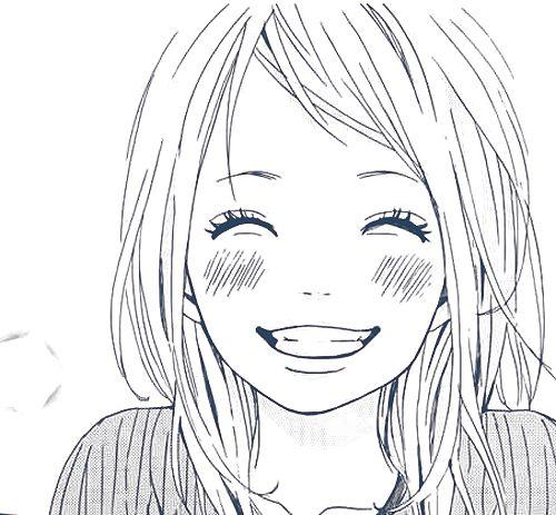 Smiling girl, smiling eyes, manga, girl, smile, cute and ...