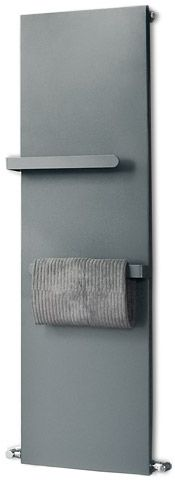 Bathroom radiator makes a great towel and robe warmer IF it had hooks instead of bars.