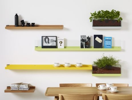 Furniture Fresh Concept Colorful Wooden Laminated Wall Shelves Complete  With Teak Wood Dining Table And Chairs Plus Indoor Plants Amusing Wall  Shelves ...
