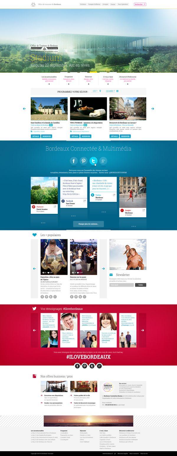 Office du Tourisme de Bordeaux * Appel d'offre by Anthony Lepinay, via Behance