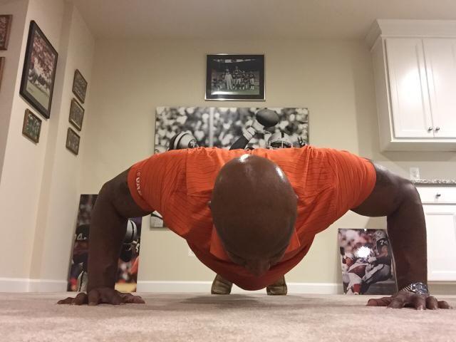 Nolan Harrison hyped up for Preseason Monday Night Football - http://fanhealthnetwork.com/ #Football #NFL #Health #Workout