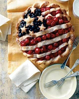American Flag Pie (Great for the 4th Of July or even Veterans Day to show <3 for your Veteran)
