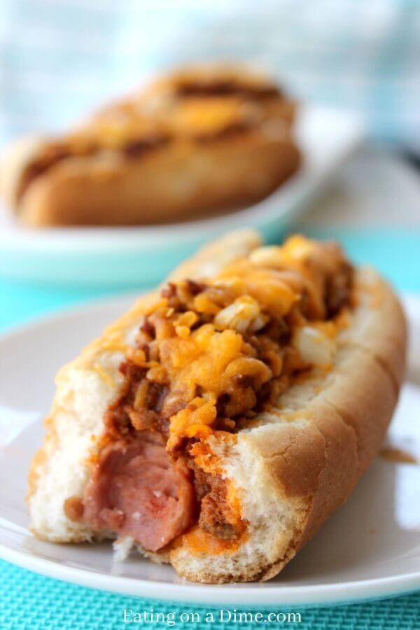 This homemade hot dog chili recipe is amazing. It is the best hot dog chili recipe ever! Perfect for Chili Cheese Dog recipe. It's the best chili for Chili Dogs. Truly the best chili cheese hot dog recipe!