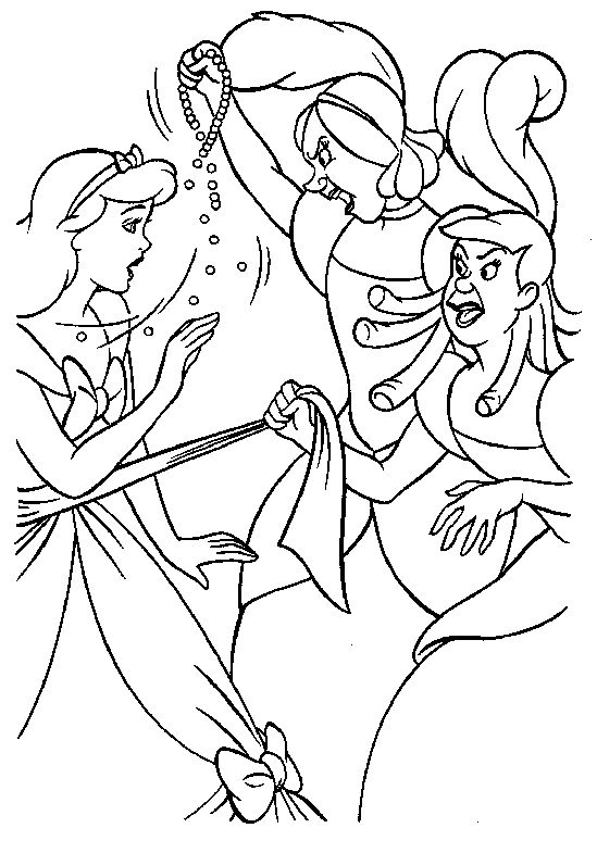 58 best Coloring Pages/LineArt-Disney-Cinderella images on Pinterest ...