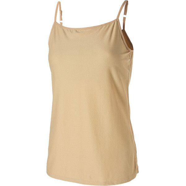 ExOfficio Give-N-Go Shelf Bra Camisole ($27) ❤ liked on Polyvore featuring stretch camisole, exofficio and beige cami
