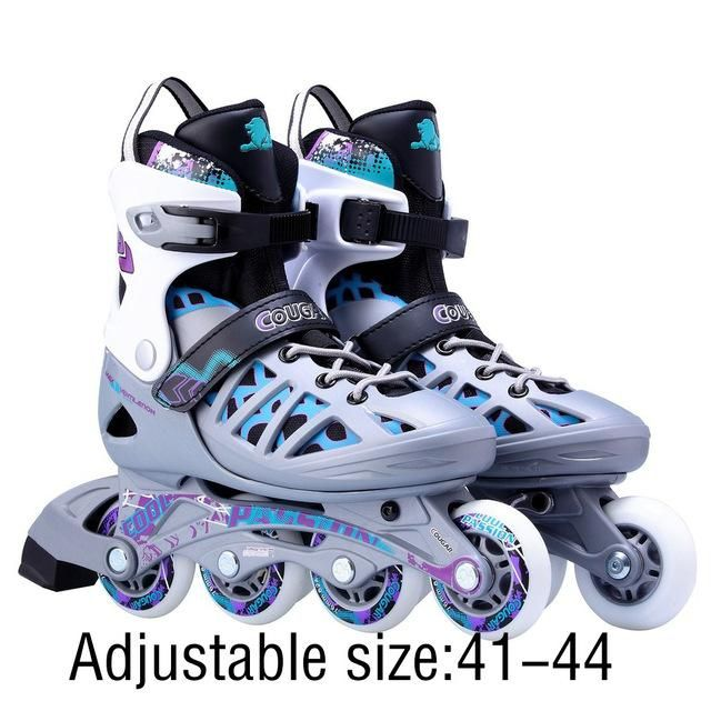 Unisex Adults Skating Shoes Professional Single Row Roller Skates
