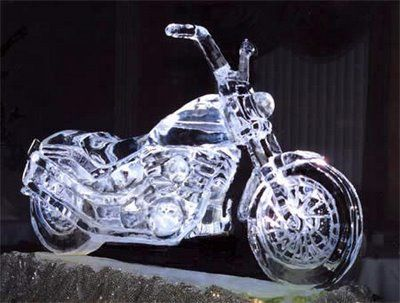 Motorcycle Ice Luge ... #perfectpartyidea
