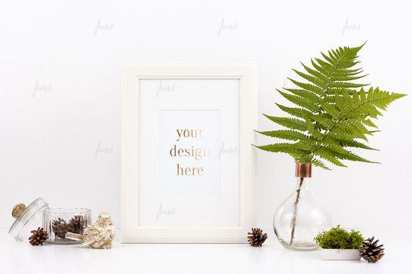 Styled Stock White Frame Mockup 0001 by JustLikeMyDesktop on Creative Market