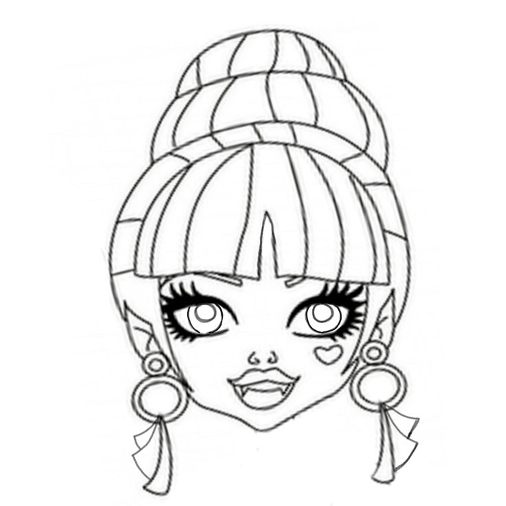 Draculaura Monster High Coloring Page