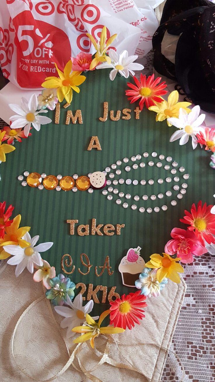 High school graduation cap for culinary students.