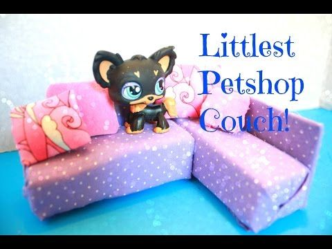 How to make a Doll Couch for Littlest Pet shop LPS dolls, EASY Kids crafts, My Crafts and DIY