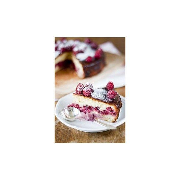 Raspberry Lemon Cake ❤ liked on Polyvore featuring food