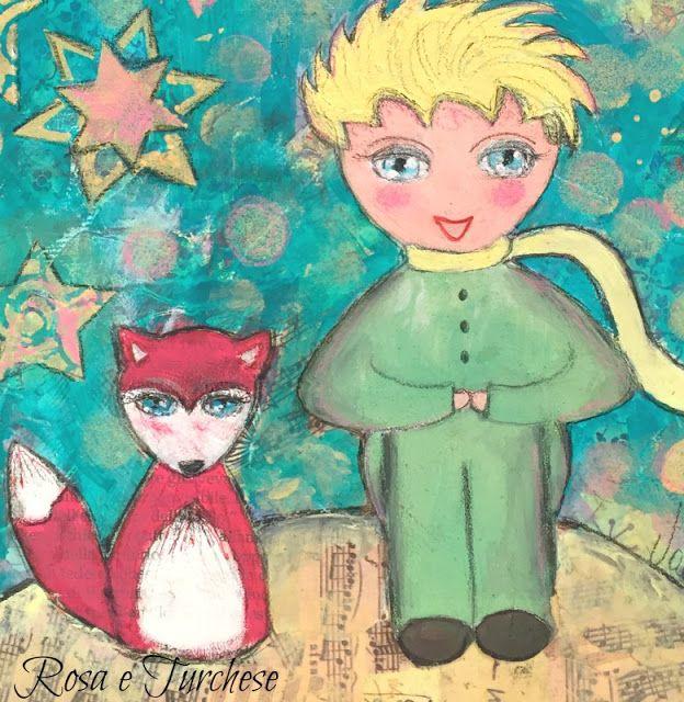 Il Piccolo Principe - Rosa e Turchese