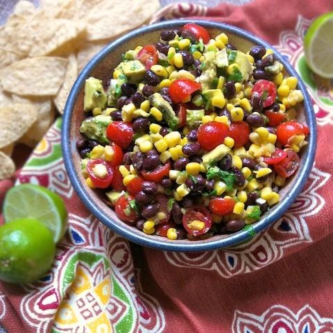 Black Bean & Corn Salsa with Lime Cumin Vinaigrette (for Cinco de Mayo!)