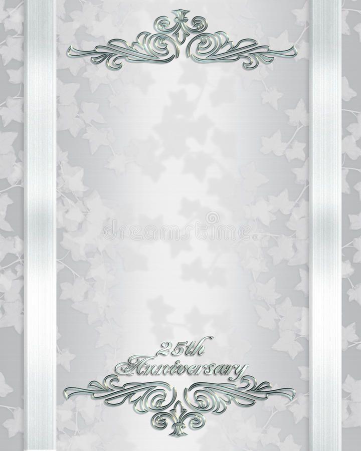 25th Wedding Anniversary Invitation Vector Illustration 25th Wedding Anniversary Invitations 50th Wedding Anniversary Invitations Wedding Invitation Background