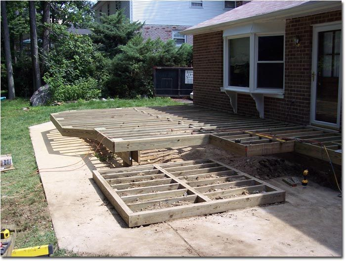 Hot tub deck plans hot tub support good detail view for Above ground pool decks with hot tub