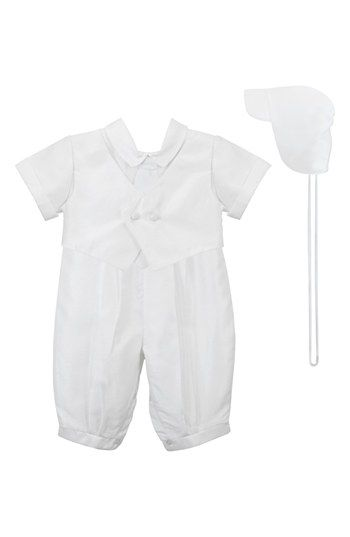 C.I. Castro & Co. Christening Romper & Cap (Baby Boys) available at #Nordstrom