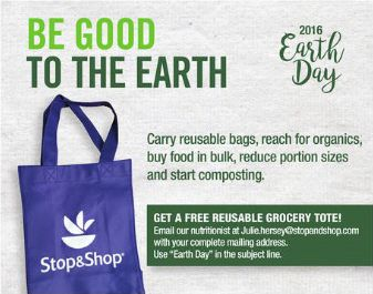 FREE Stop & Shop Reusable Grocery Tote - http://freebiefresh.com/free-stop-shop-reusable-grocery-tote/