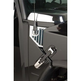 Putco 403407 Chrome (Grey) Side Hood Hinge Covers for Hummer H2 / H