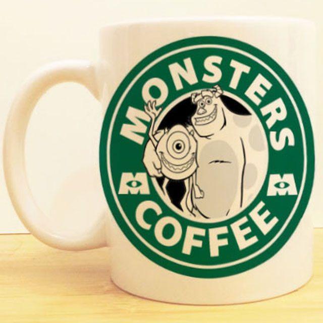 Monsters Inc Coffee Mug | Mike and Sully Starbucks | Disney Monsters University