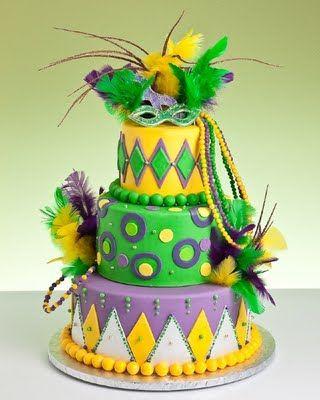 Mardi Gras cakes are so beautiful!