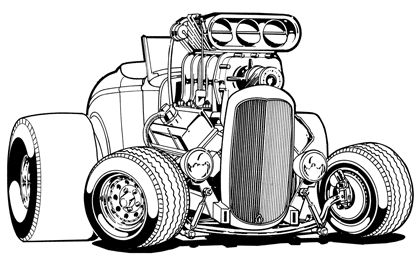 hot rod coloring page bing images coloring pages for adults pinterest ford
