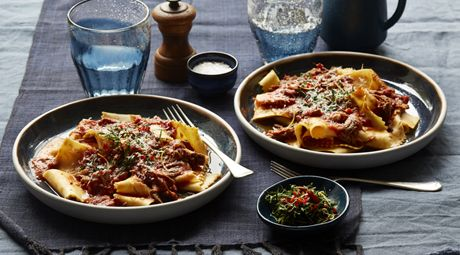 Stracci Pasta with Braised Lamb Ragu and Chilli Gremolata