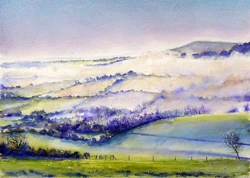 'Caburn Valley of the Mist - by William Bovington aka (Lorus Maver)  - my Brother Bill
