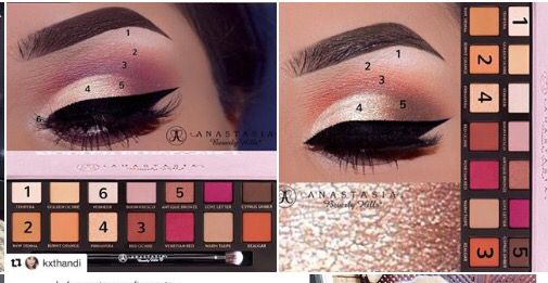 Look at this great look for the Anastasia Modern Renaissance palette!!