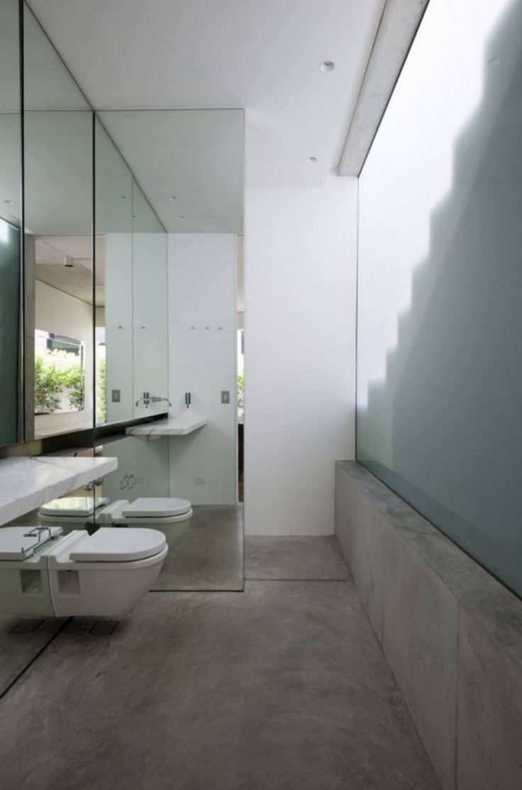 Concrete bathroom #bathroom #interior #concrete