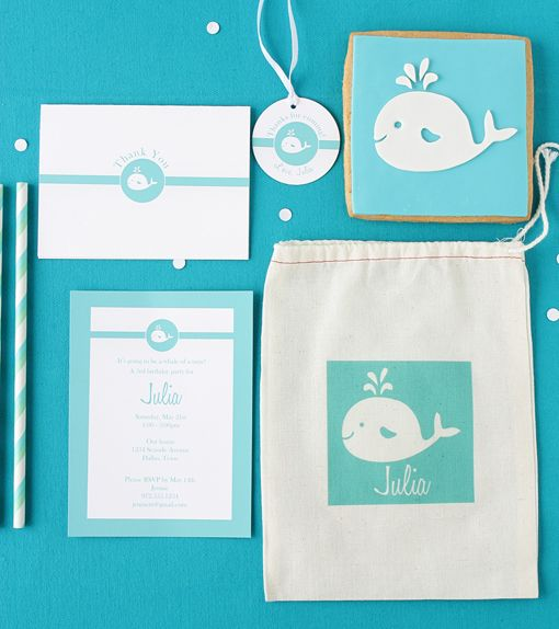 this whale set is the cutest thing ever! #party #paper #kids