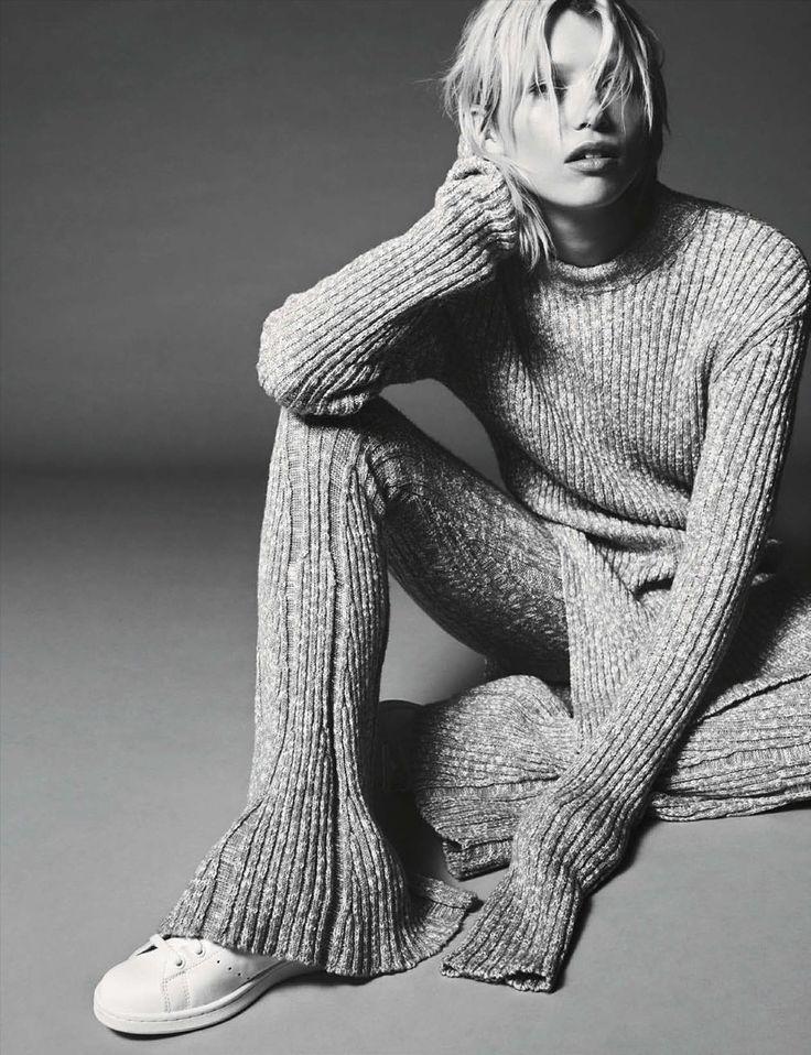 (Vogue Germany, November 2014)   Model: Hana Jirickova. Photographer: Nick Dorey. Styling: Katie Mossman. Hair: Marki Shkreli. Make-up: Stevie Huynh. Manicure: Holly Falcone.