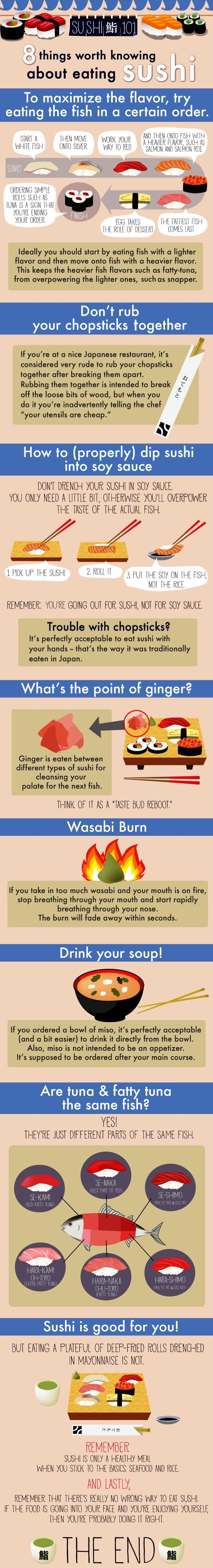 #sushi... instructions! How to eat sushi in.. the best way! :)