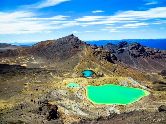 Tongariro Crossing, Emerald Lakes, Taupo, North Island, NZ