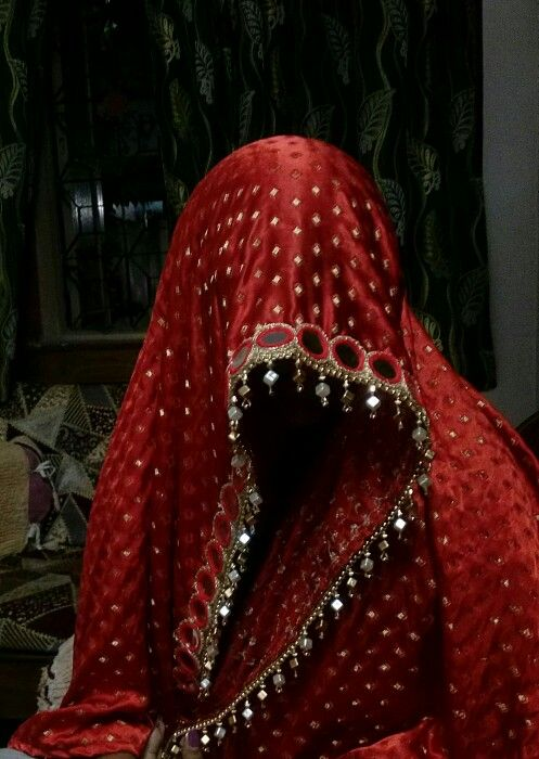 Mirror work bridal dupatta...available for sale.