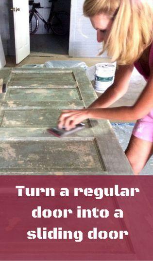 Turn A Regular Door Into A Sliding Barn Door
