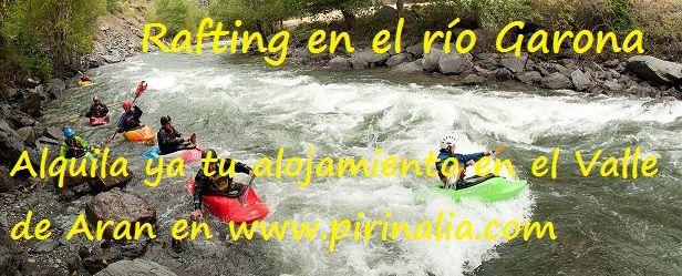Si te gustan los deportes de aventura, ven esta primavera al #ValledeAran donde podrás practicar deportes como el #rafting, la canoa o la escalada entre otros. ¡No esperes más! Alquila ya tu #apartamento o #casa en el valle con Pirinalia #ONLINE fácil y cómodo! Y... si tiene alguna duda, no dude en llamarnos: 973 107 207