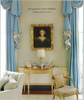 Cornbury Park Drawing Room of Lady & Lord Rotherwick by the great John Fowler. published World of Interiors Dec 2008