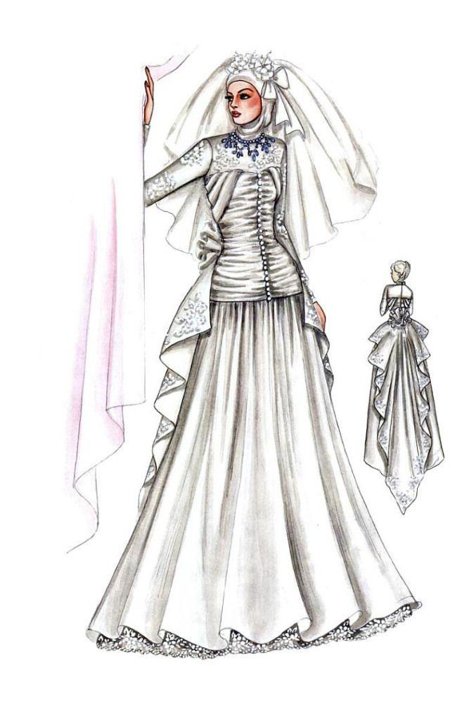 Sketch of Modern Kebaya