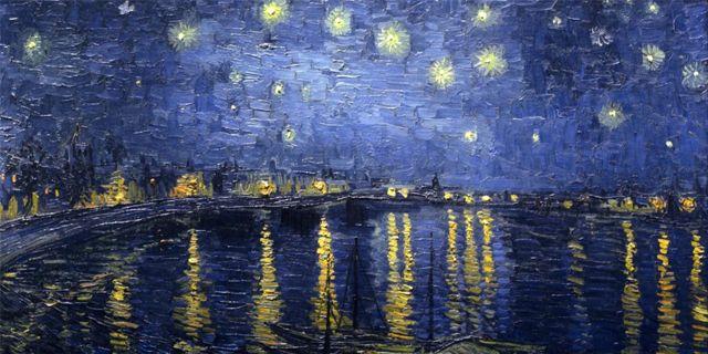 Notte-stellata-sul-Rodano-Vincent-Van-Gogh