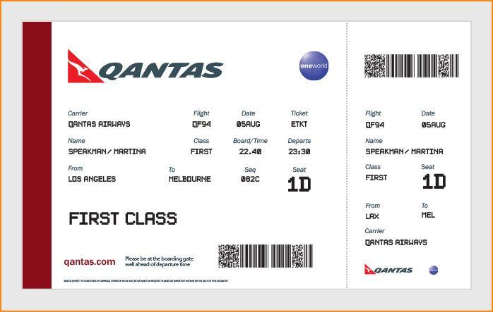 Blank Plane Ticket Flight ticket | Party ideas | Pinterest ...