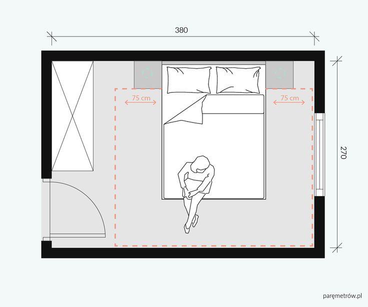 Sypialnia  / Bedroom / Interior plan / Mieszkanie