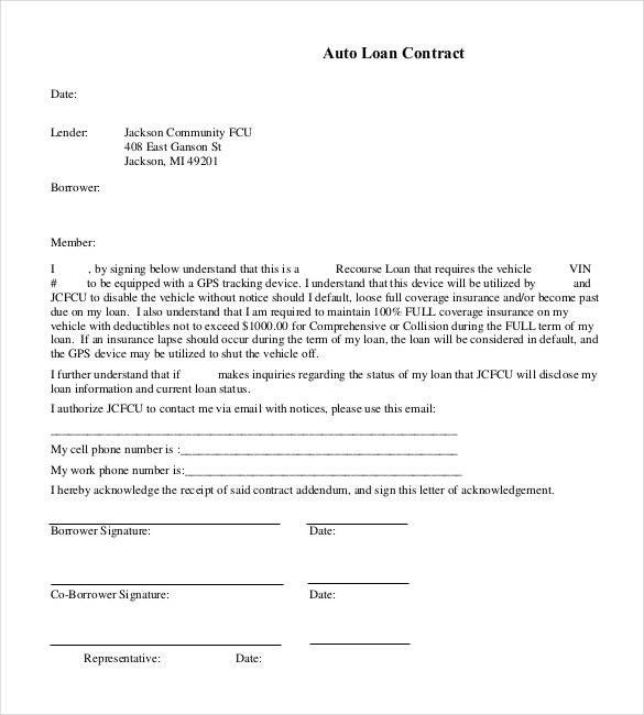 Car Finance Contract Template Best Of 27 Loan Contract Templates Word Google Docs Apple Contract Template Car Finance Car Loans