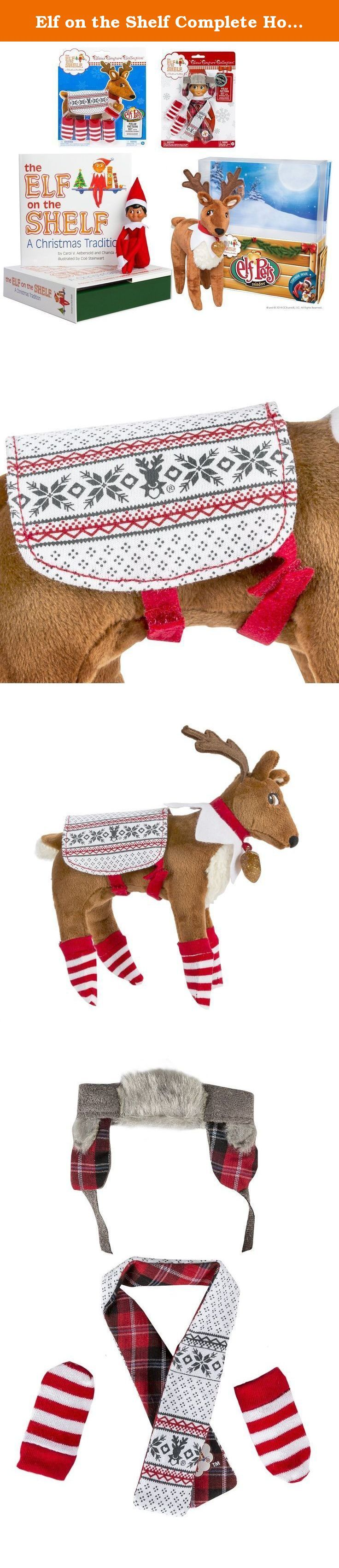 Elf on the Shelf Complete Holiday Gift Bundle: Boy Scout Elf (Brown Eyes), Cuddly Plush Reindeer Elf Pet, Christmas Tradition Storybook, A Reindeer Tradition Storybook, and (2) Matching Polar Pattern Winter Wear Sets. Every night this Scout Elf will return to the North Pole to say whether your family has been naughty or nice. Santa takes that information every night until Christmas Eve when he decides if you're getting presents or coal this year. This reindeer is the perfect combination…