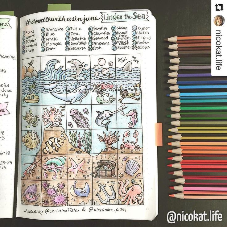 Doodle challenge for your bullet journal or art journal show me your planner